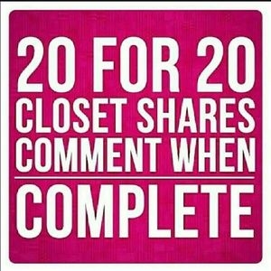 20 SHARES FROM YOU GETS 20 SHARES BACK FROM ME!!!!